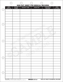 sign out sheet for medical records form