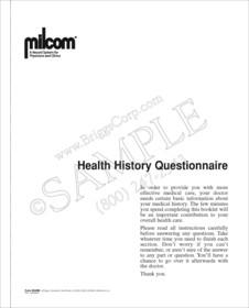 milcom health history questionnaire