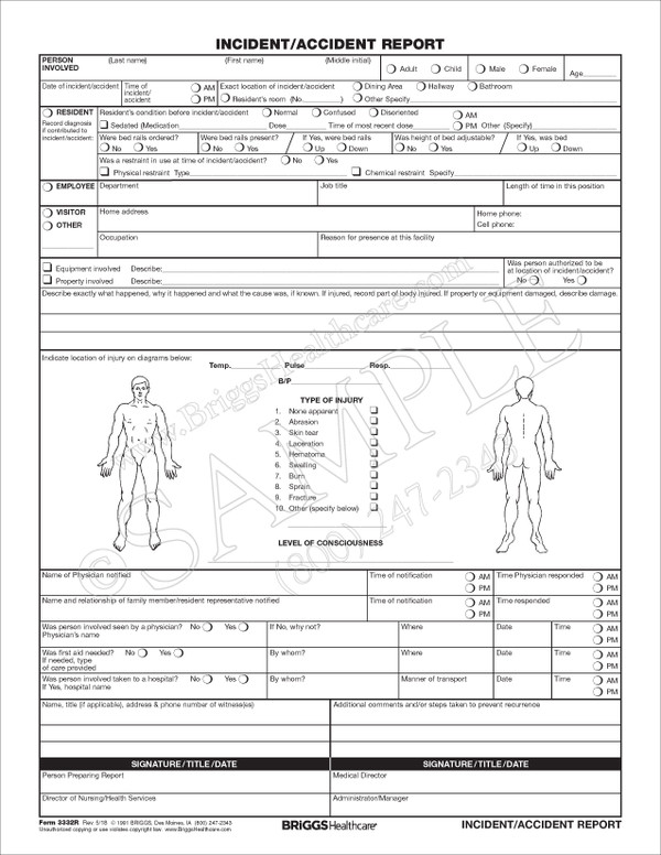 Fan image intended for free printable incident report