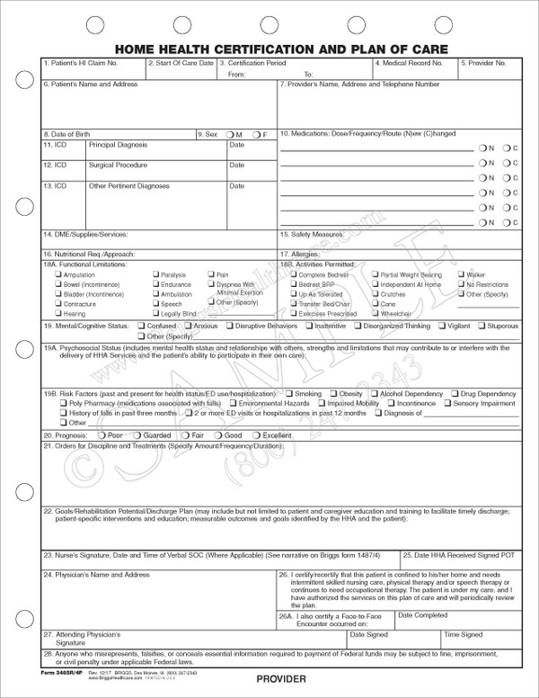Products Documentation General Forms Administrative Front Office