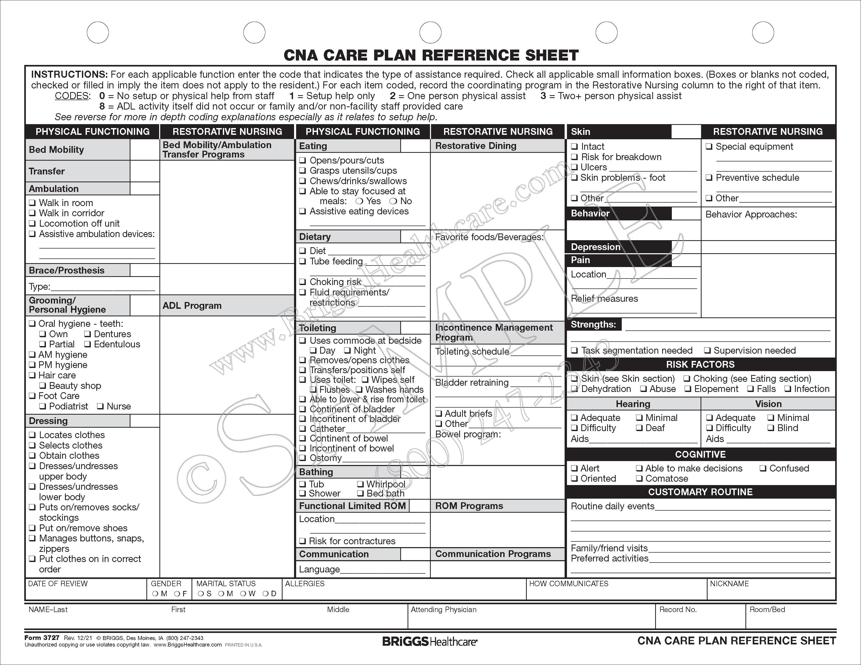 cna charting forms. Black Bedroom Furniture Sets. Home Design Ideas