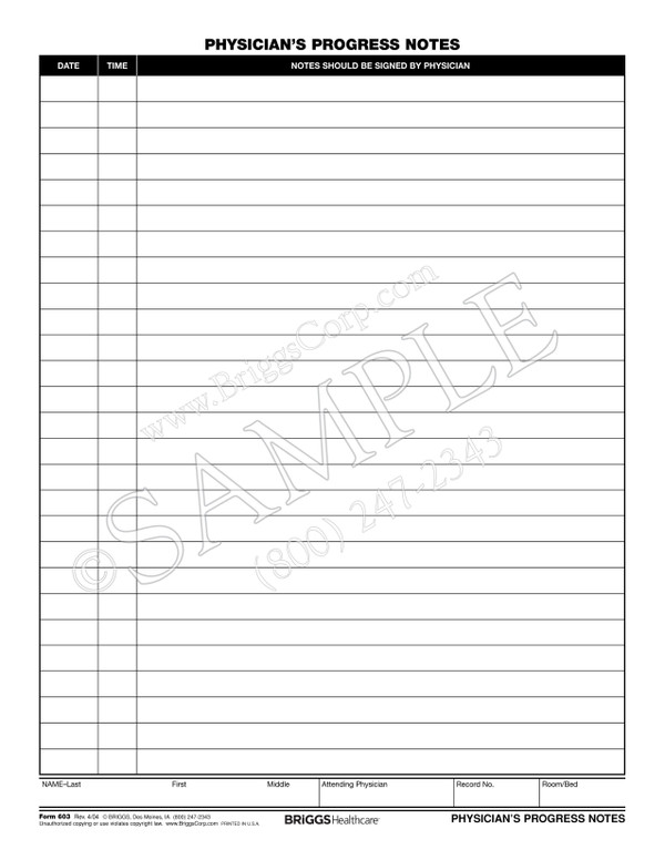 Physician Progress Note Template  NinjaTurtletechrepairsCo