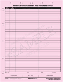 physicians order sheet and progress notes form
