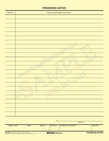 progress notes form buff paper