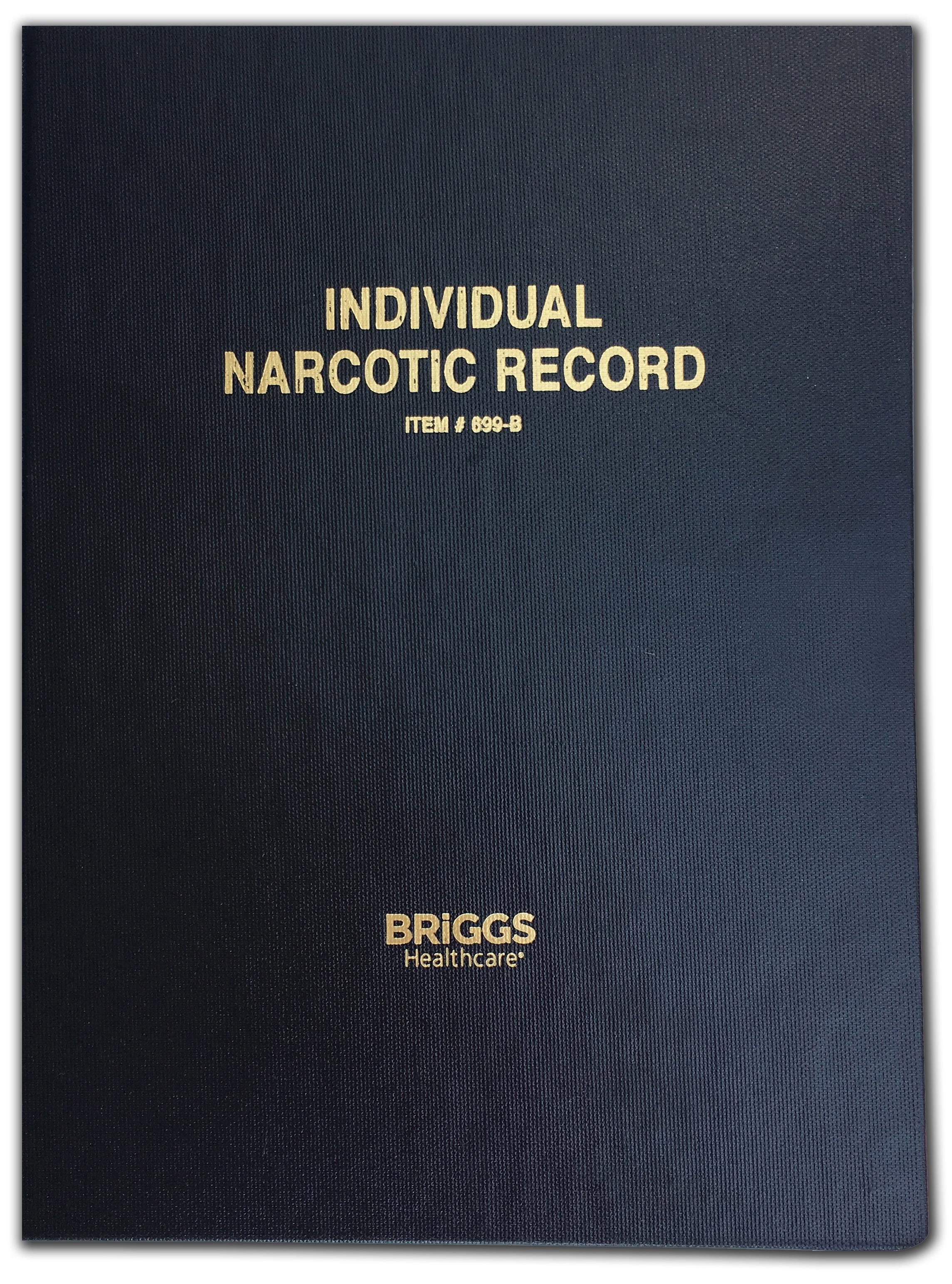 individual narcotic record book