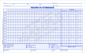 employee attendance record form