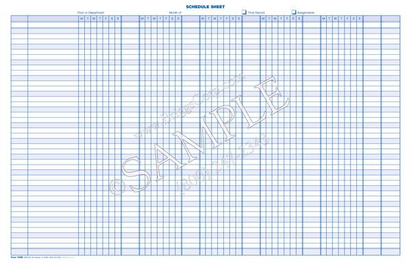 Monthly Schedule Sheet Monday Through Sunday